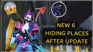 Top 6 Hiding Place in Garena FREEFIRE AFTER UPDATE | SHOCKING PLACES #HIDINGPLACEFREEFIRE
