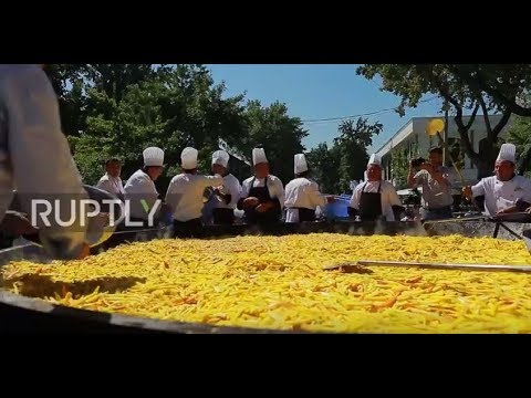 Rice won! This 8 tonne Uzbek dish is the largest pilaf ever made