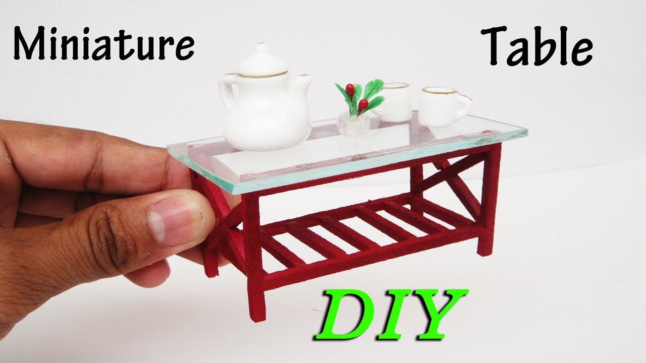 How To Make Miniature Realistic Simple Table Dollhouse