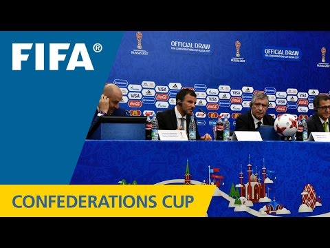 FIFA Confederations Cup Russia 2017 - Official Draw - Coache