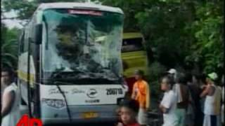 Raw Video: 11 Dead Following Bus Wreck