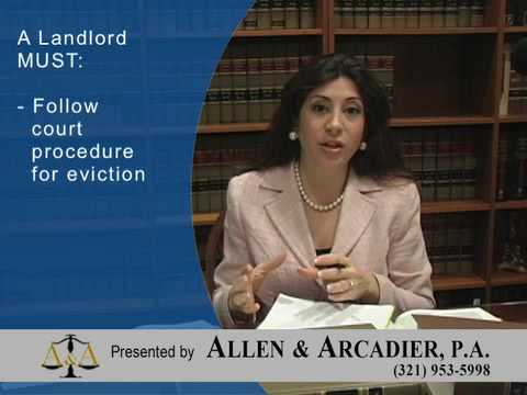 Landlord-Tenant Law: Self-Help Eviction