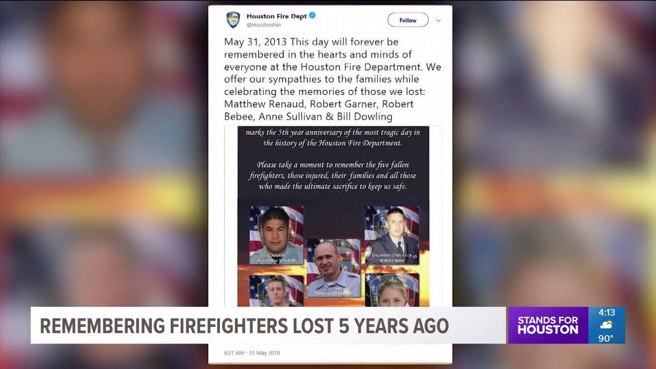 Five years later: HFD recognizes firefighters killed in Southwest Inn fire