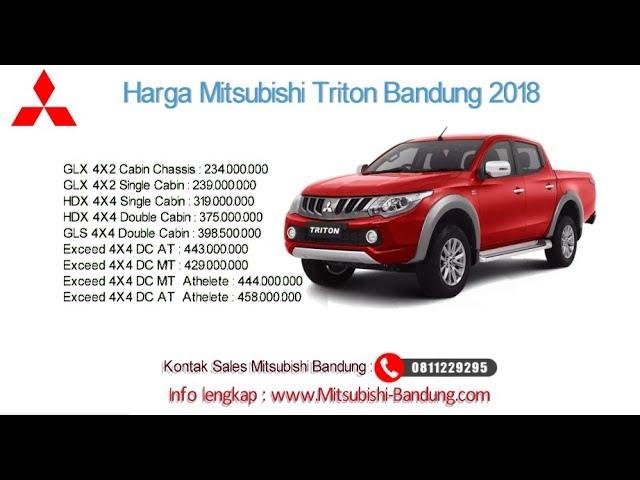 Harga Mitsubishi Triton 2018 Bandung dan Jawa Barat | 0811229295
