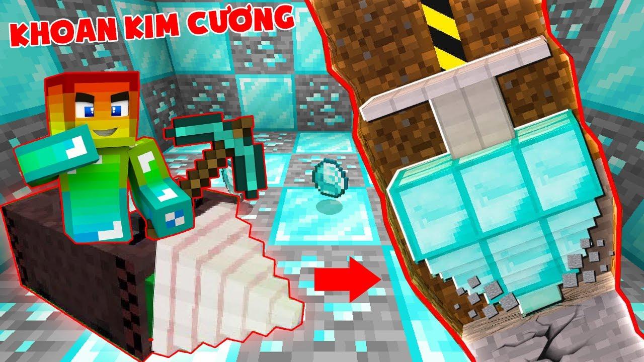 T Gaming Thử Thách Chế Tạo Máy Khoan Kim Cương Vip Nhất Trong Minecraft