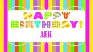 Aek Happy Birthday Wishes & Mensajes