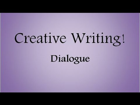 Dialogue in Creative Writing