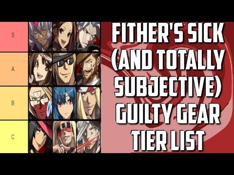 Fither's Sick (And Totally Subjective/Personal) Guilty Gear Tier List