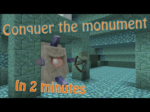 Minecraft - How to Raid an Ocean Monument, Quickly and Easily [1.8]