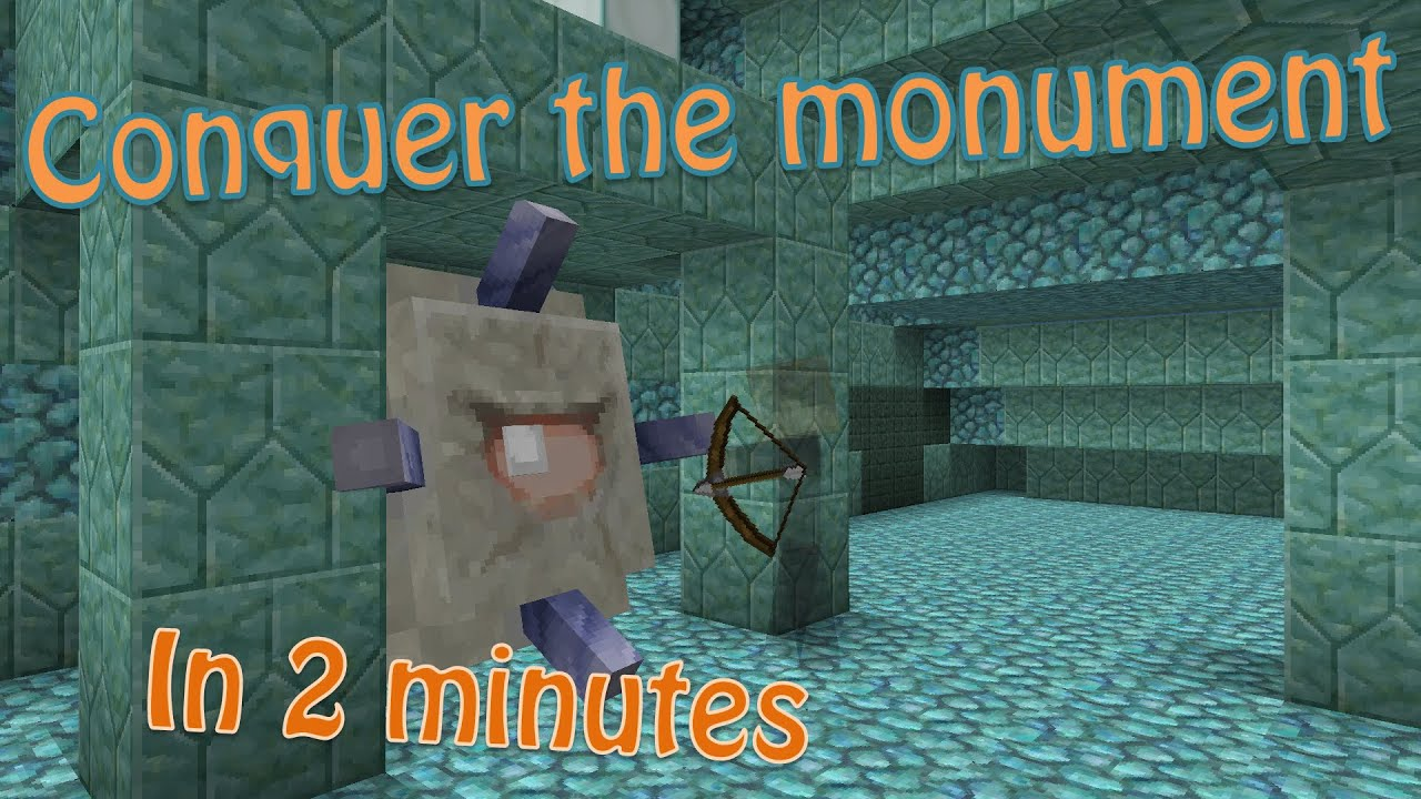Minecraft 8.84+ How to Raid an Ocean Monument, Quickly and Easily