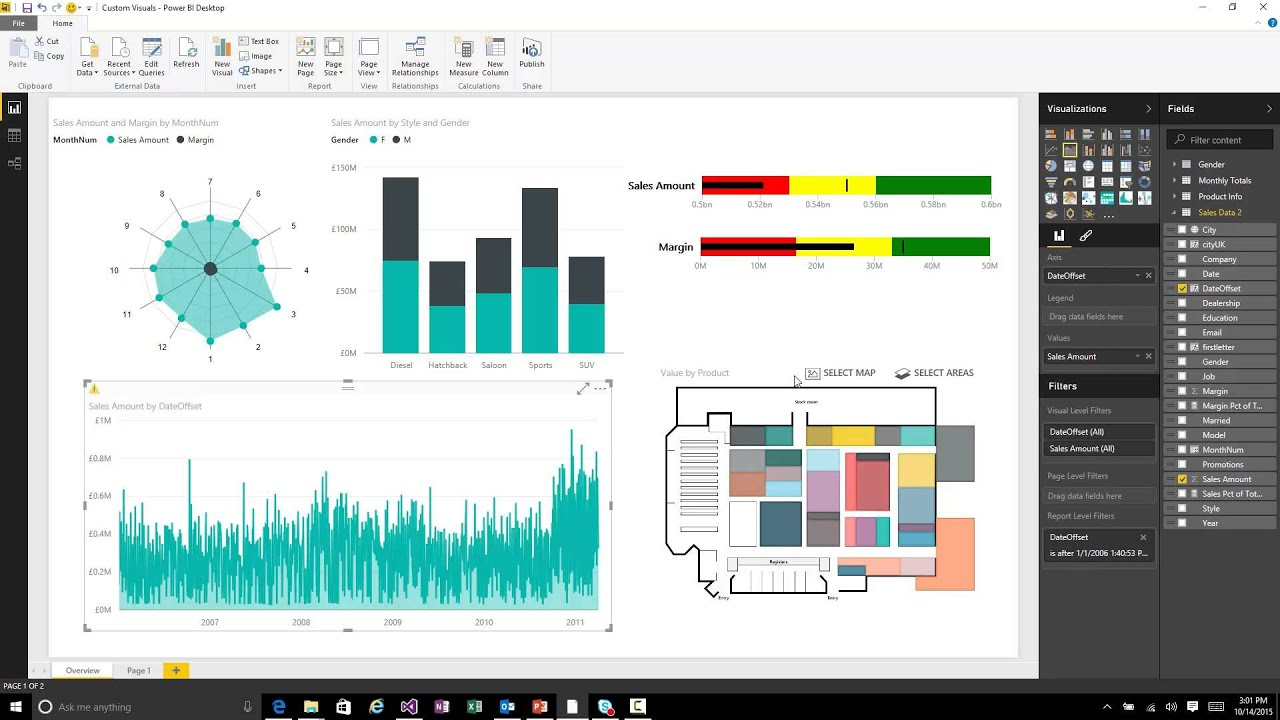 Microsoft Power Bi Custom Visual Gallery | secondtofirst com
