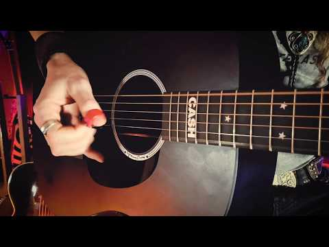 Country Blues Fingerpicking | DEEP RIVER BLUES on the Martin DX Johnny Cash Guitar