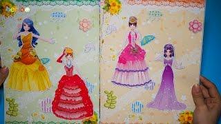 Đồ chơi cho bé gái - Dán hình trang điểm váy đầm cho công chúa - Tập 2