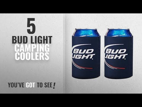 Top 5 Bud Light Camping Coolers [2018]: Bud Light Logo Beer Can