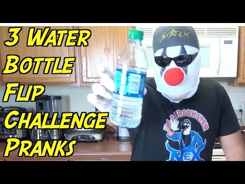 3 Water Bottle Flip Challenge Pranks You Can Do- HOW TO PRANK (Evil Booby Traps)