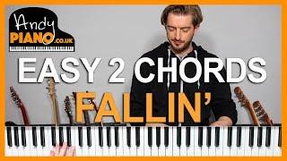 Alicia Keys - Fallin' EASY 2 Chord Piano Song Tutorial
