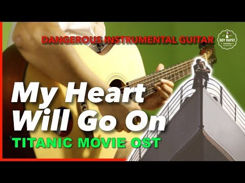 My Heart Will Go On Titanic OST Celine Dion Instrumental Guitar Cover Karaoke With Lyrics