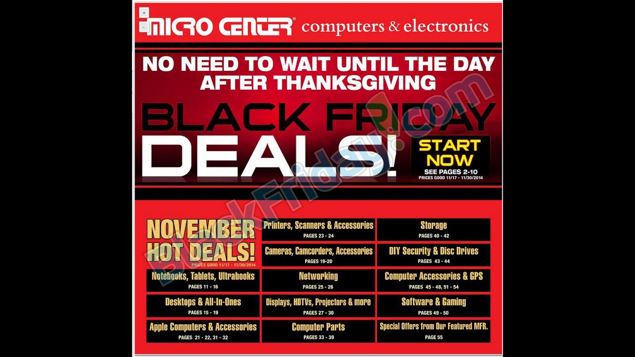 2014 Black Friday Microcenter Sale Add Youtube