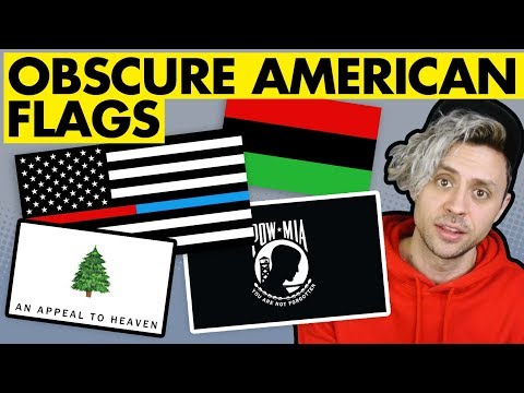 Rare And UNUSUAL American Flags
