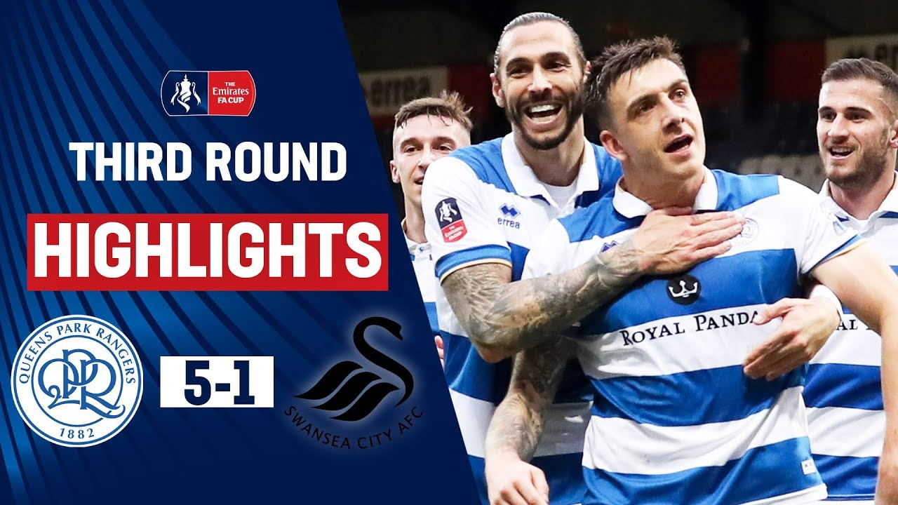 Hugill Double & Scowen Screamer Sees Off Swans | QPR 5-1 Swansea City | Emirates FA Cup 19/20