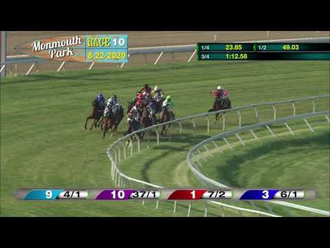 video thumbnail for MONMOUTH PARK 08-22-20 RACE 10 – MALOUF AUTO GROUP STARTER #3