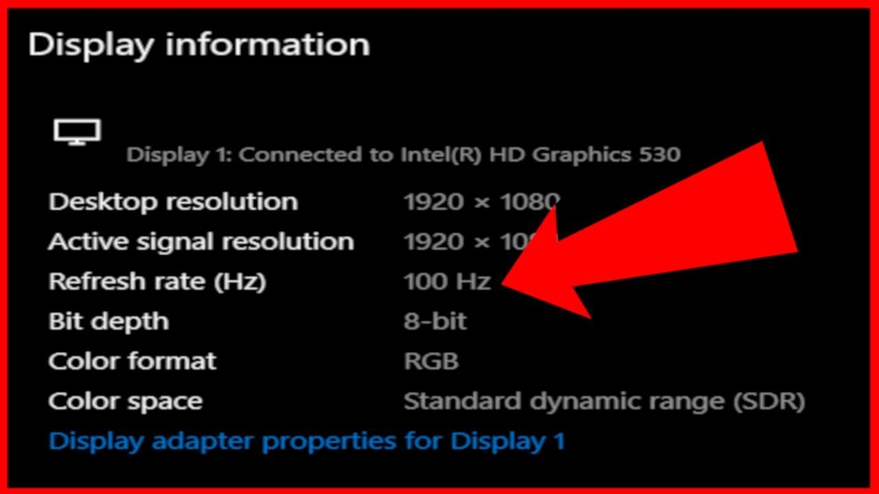 Dell 7559 Laptop Display Overclocked (100 Hz)