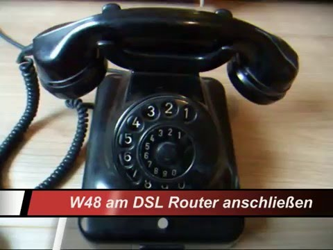 old telephone w 48 an router anschlie en youtube. Black Bedroom Furniture Sets. Home Design Ideas