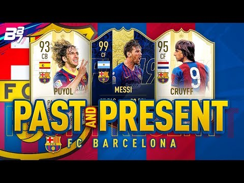 PAST AND PRESENT FC BARCELONA SQUAD BUILDER! | FIFA 19 ULTIMATE TEAM