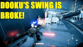 Star Wars Battlefront 2 - Count Dooku can't swing anymore? Broke Dooku / Luke! (2 games)