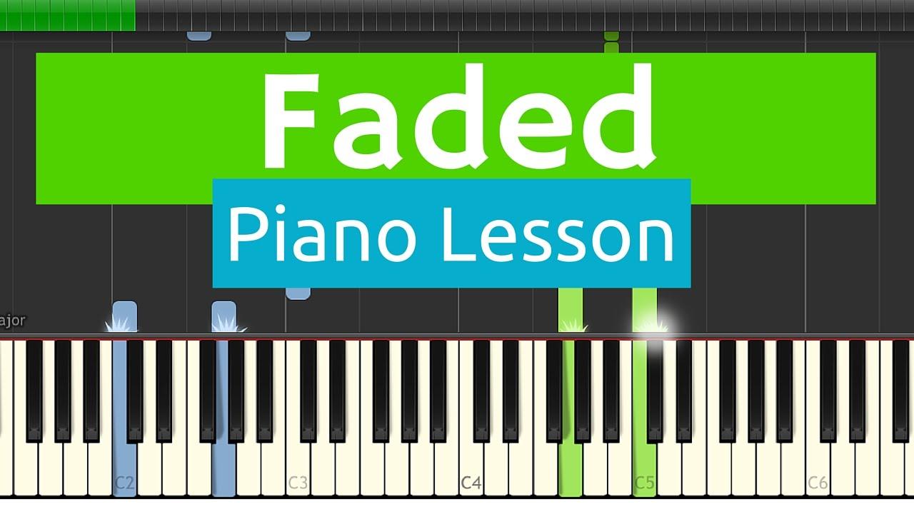 faded piano sheet easy version pdf