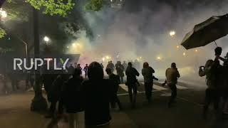 USA: Portland police use tear gas on protesters as George Floyd demonstrations continue
