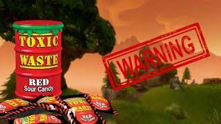 INSANE TOXIC WASTE CHALLENGE!!!! - Fortnite - *La advertencia se vuelve dolorosa*