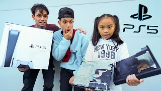 Destroying Our Little Sister's PS4, Then Giving Her A PS5!