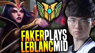 Faker Showing some Leblanc Mechanics! - SKT T1 Faker SoloQ Playing Leblanc Midlane!   SKT T1 Replays thumbnail