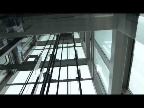 Fabolous KONE EcoDisc glass Elevators @ Slotervaartziekenhuis (hospital) in Amsterdam
