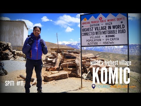 KOMIC : World's Highest village connected with a motorable road