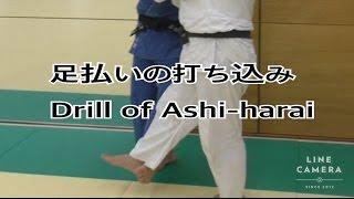 柔道:足払いの打ち込み JUDO : Drill of Ashi-Harai