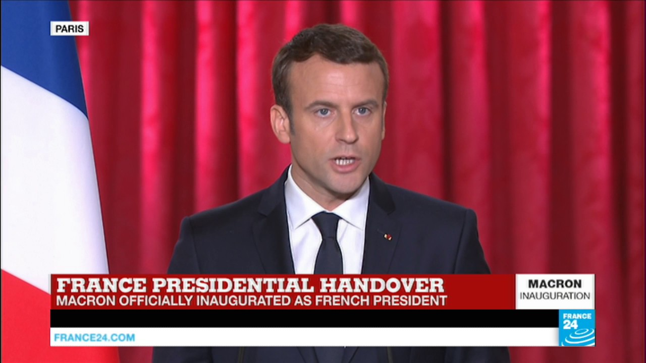 France Watch Emmanuel Macron S First Speech As President Of The French Republic Youtube