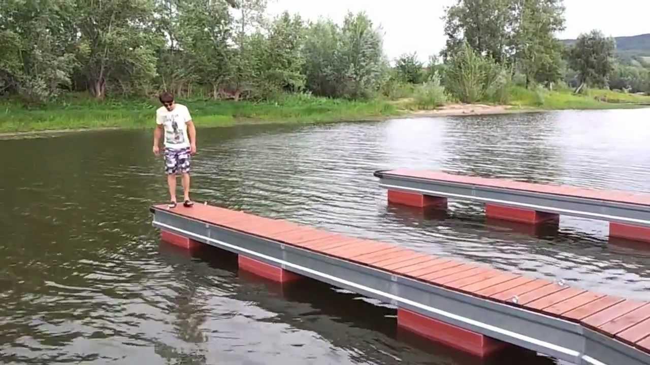 Мостки на речке своими руками