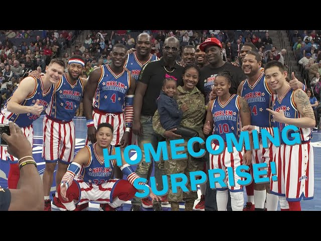 Military Mom Pulls Off Incredible Homecoming Surprise at Harlem Globetrotters Game