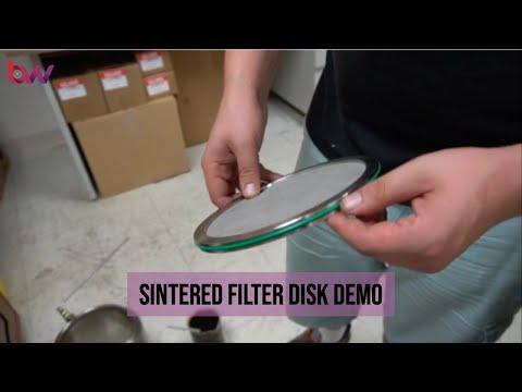 Sintered Filter Disk Demo