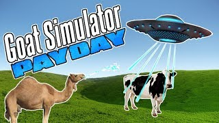 CAMEL RIDES BOX INTO UFO - Goat Simulator Payday - Part 4