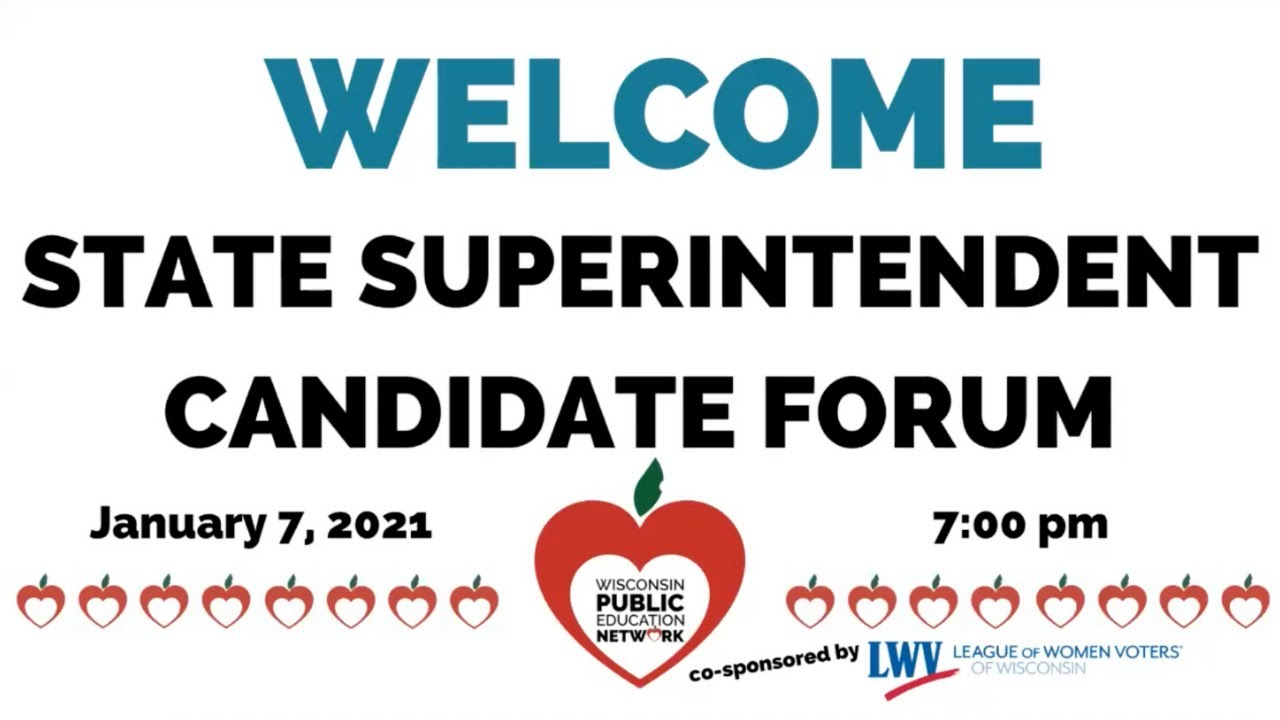 State Superintendent Candidate Forum Recording Available
