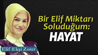 Elif Ekşi Zorer-Bir elif miktarı(17.11.2017)