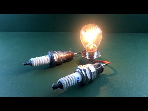 Free Energy Generator Magnets With Light Bulb Using Spark Plug New Science Project