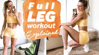 Leg + Glute Functional Workout Explained | Beginner to Advanced