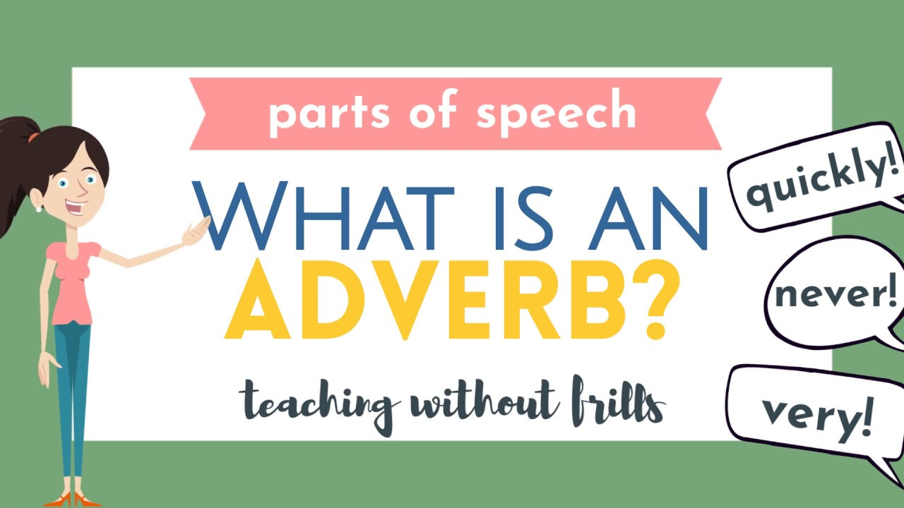 small resolution of Parts of Speech for Kids: What is an Adverb? - YouTube