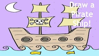 How to Draw a Pirate Ship Step-by-Step Easy Drawing Lesson for Beginners
