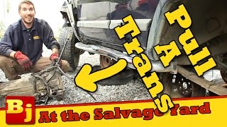 How To Pull A Transmission at the Salvage Yard