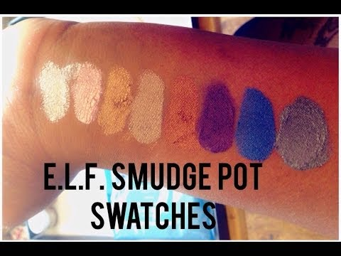 e.l.f. Smudge Pots Swatches - YouTube